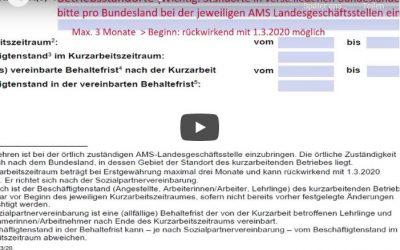 Video COVID-19 Kurzarbeitsantrag ausfüllen (Anleitung für Unternehmen)
