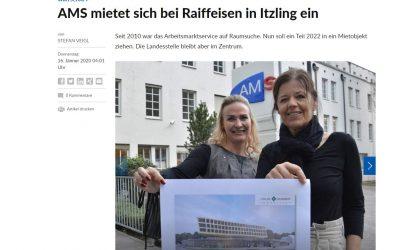 SN Bericht: AMS mietet sich bei Raiffeisen in Itzling ein